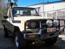 1985 Toyota Land Cruiser HJ75 Pick Up P/S A/C Diesel Right Hand Drive